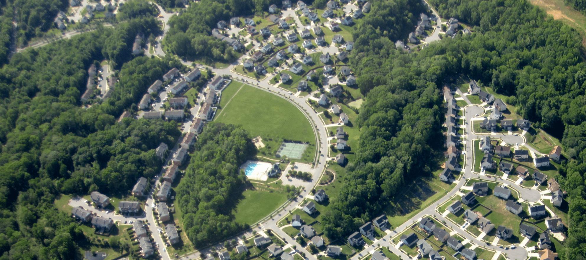 low-density suburbs housing