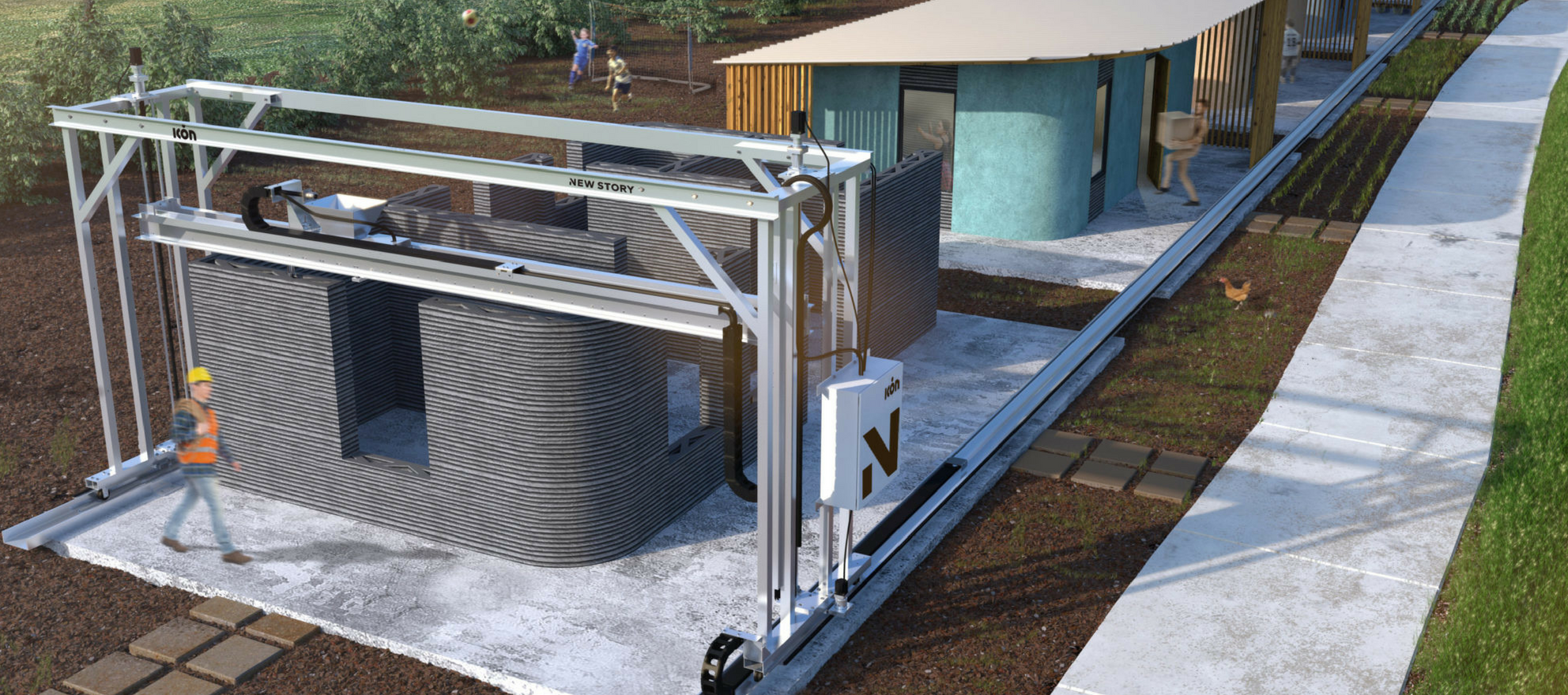 new story icon 3-d printed home