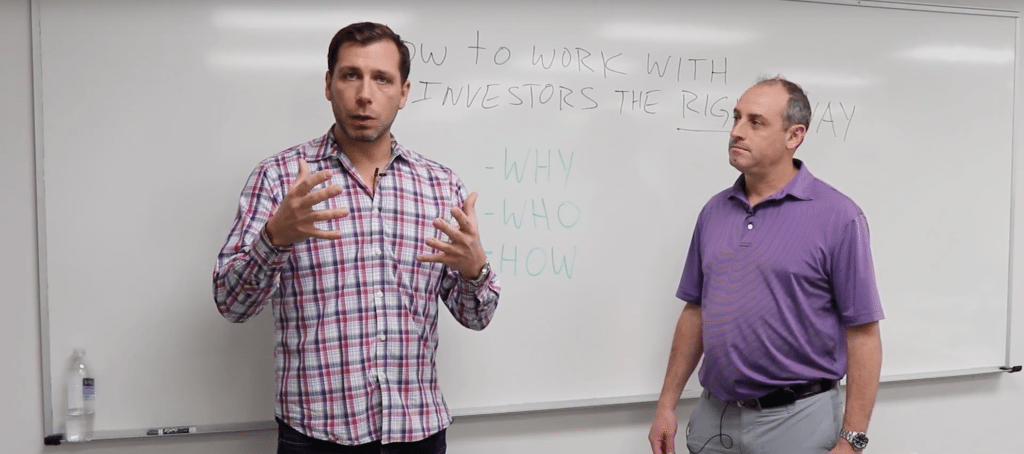 how to work with investors
