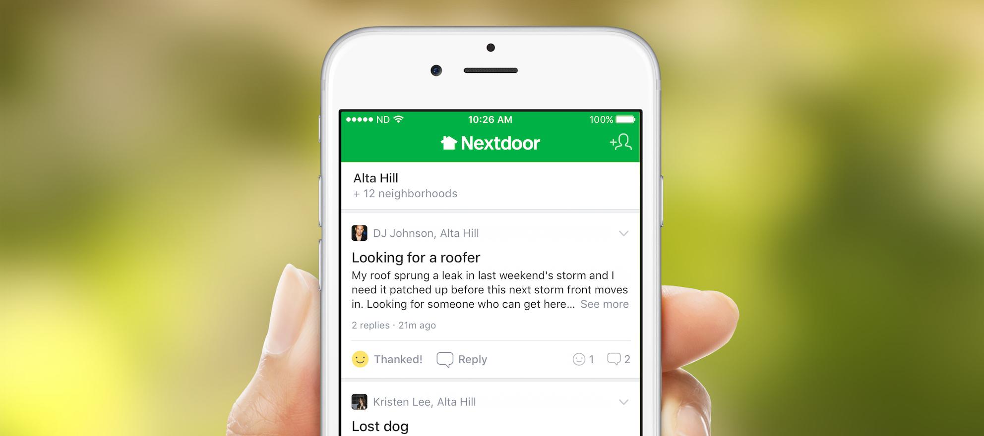 Could Nextdoor replace Facebook?