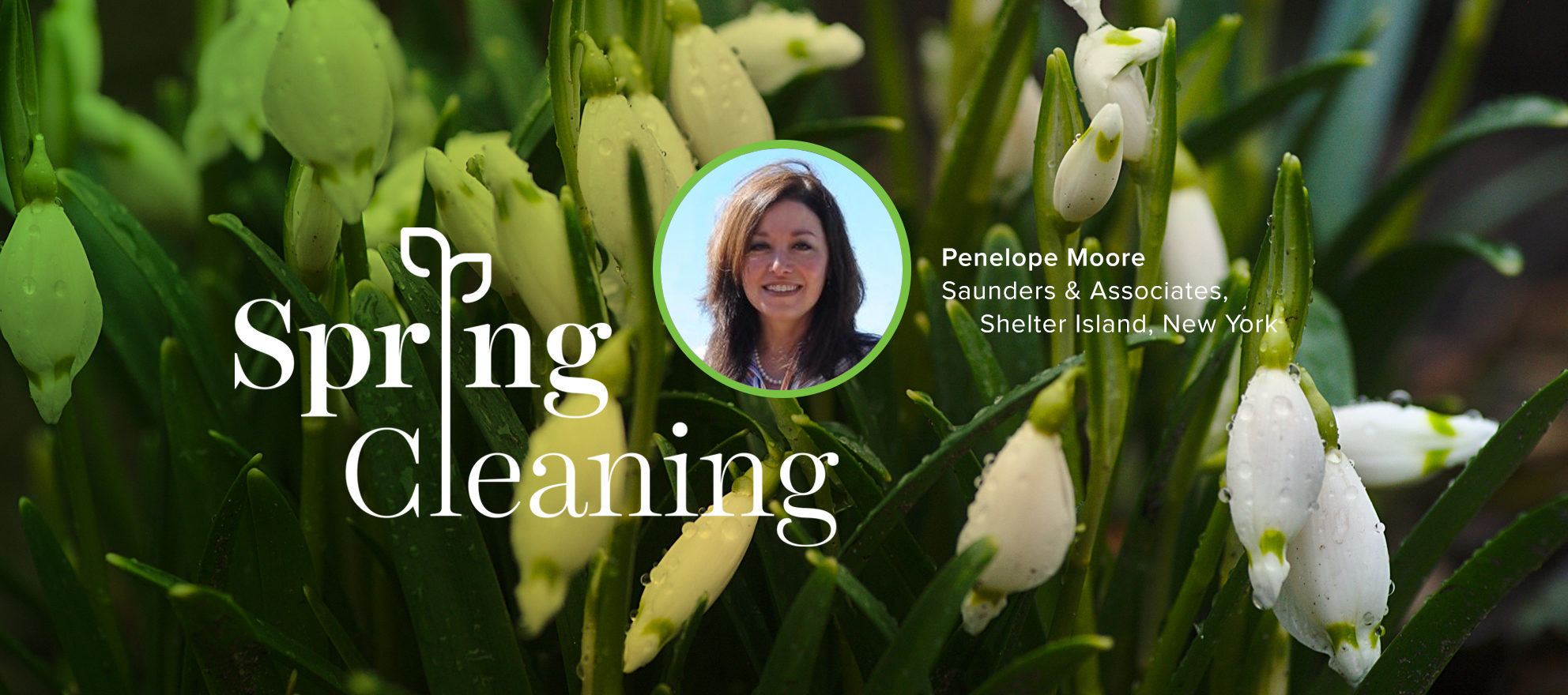 Spring Forward, Penelope Moore, Spring Cleaning, Saunders, Shelter Island, Real Estate