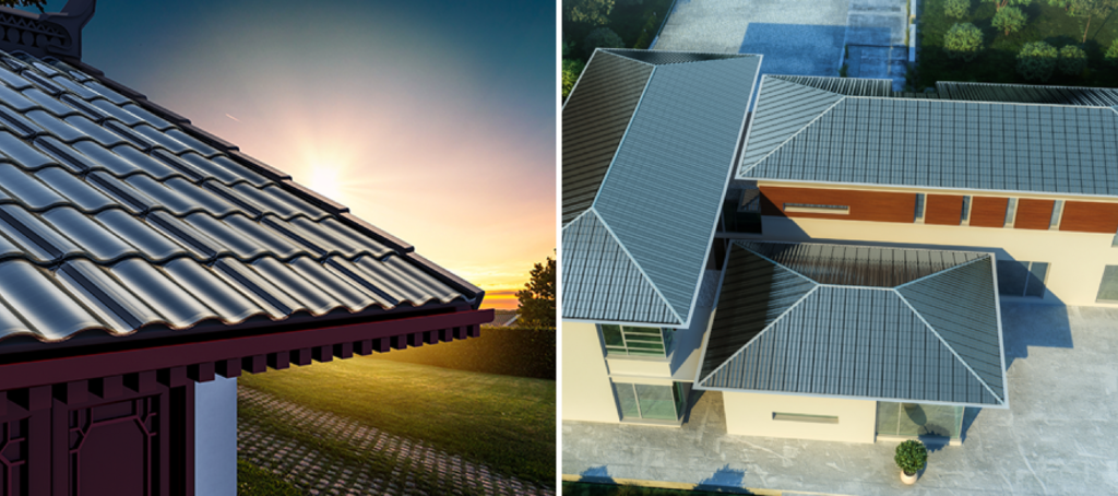 glass solar roof tiles