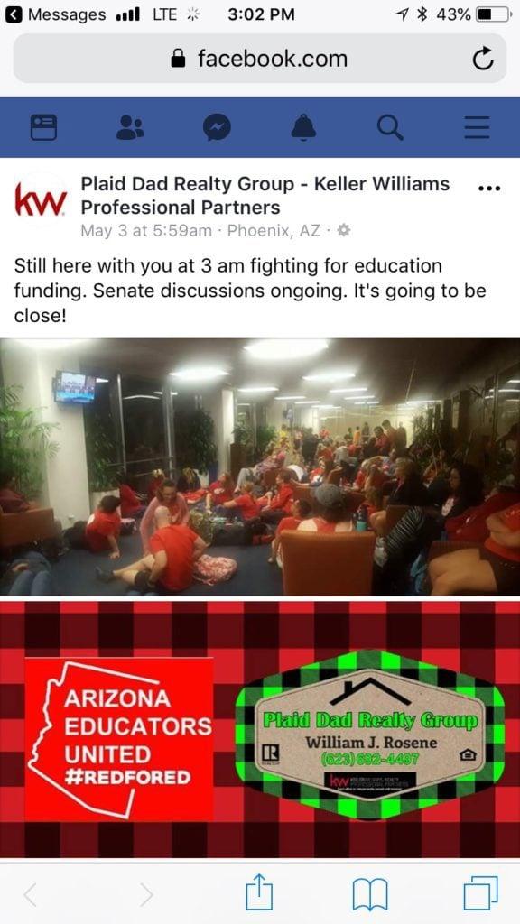 Bill Rosene Facebook advocacy