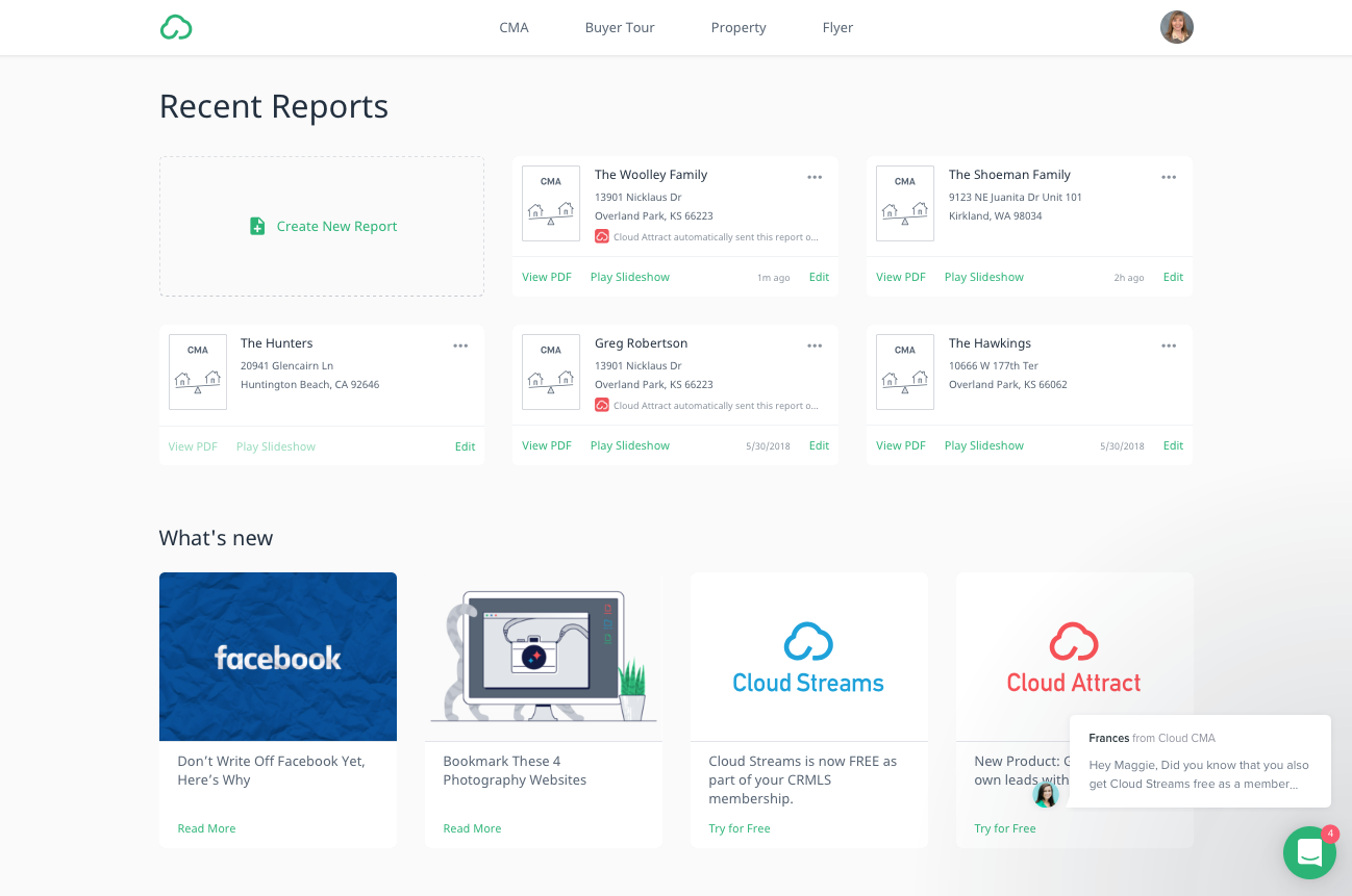 PNC Real Estate Newsfeed » Cloud CMA debuts new look, features and