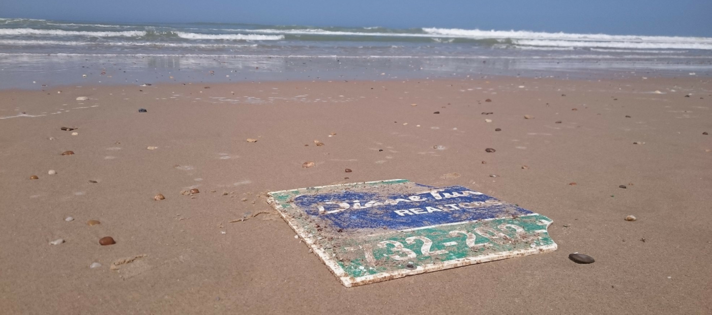 real estate sign found years after hurricane sandy