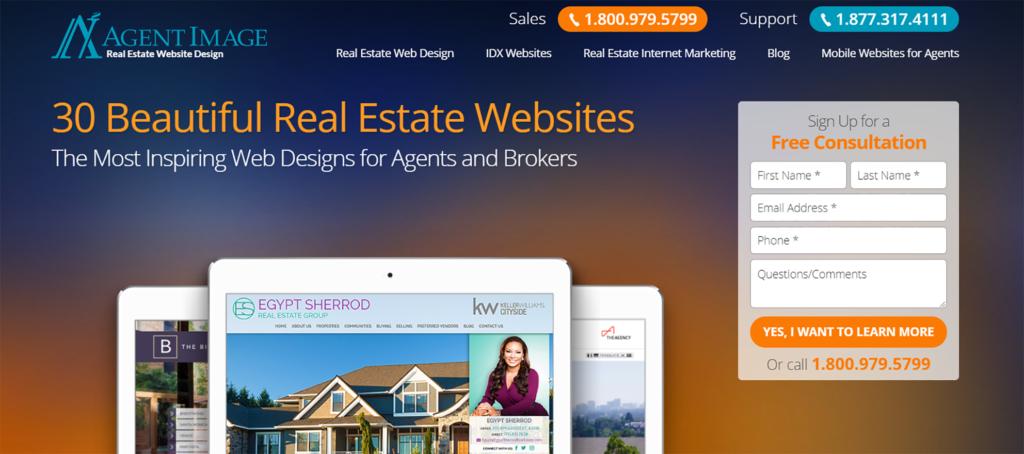 Agent Image Real Estate Website Design