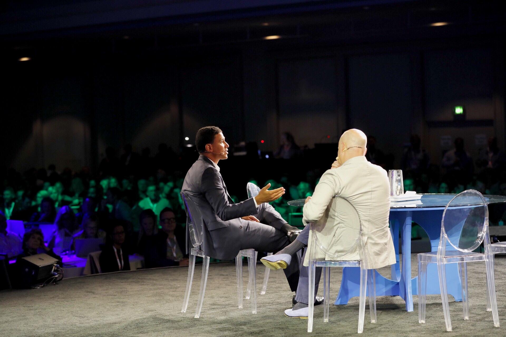 Compass CEO Robert Reffkin and Brad Inman at Inman Connect San Francisco 2018