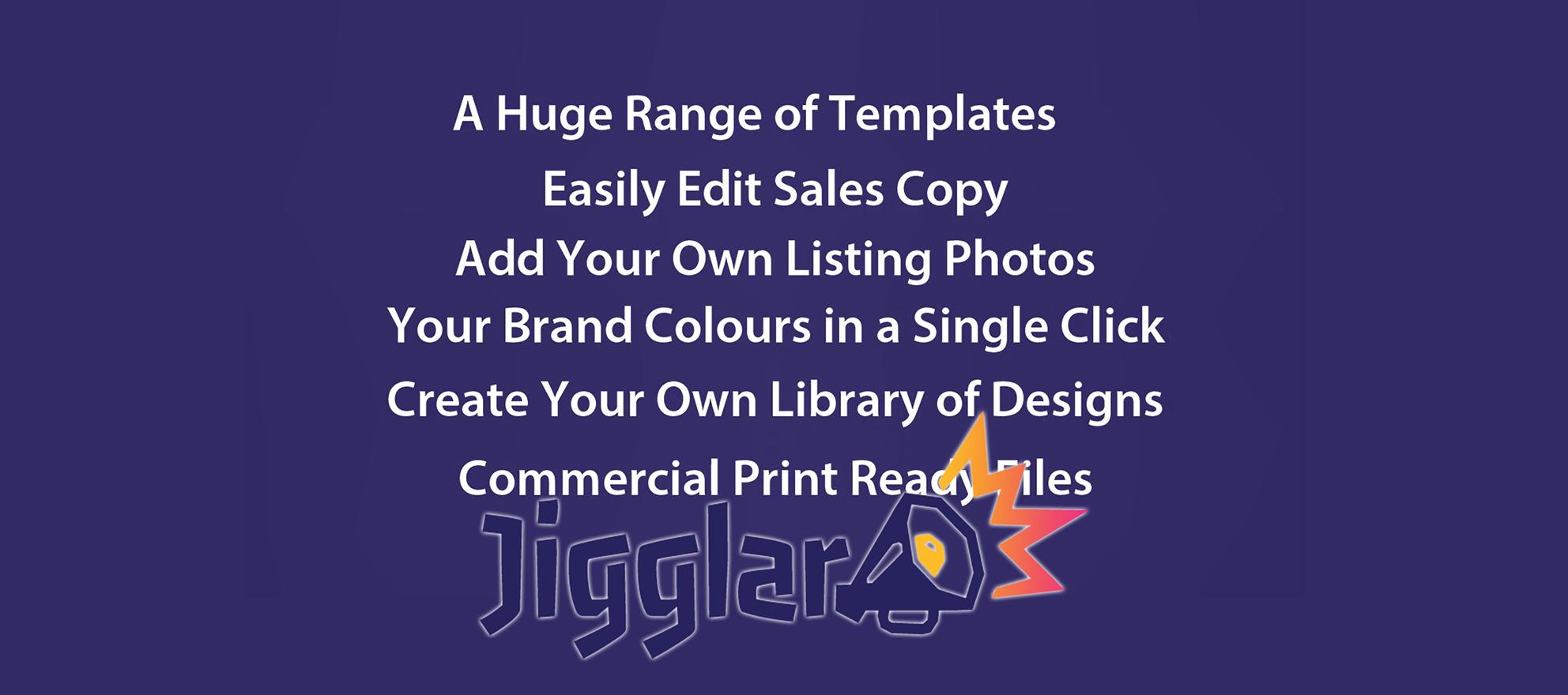 Jigglar Creative Marketing Tool for Agents