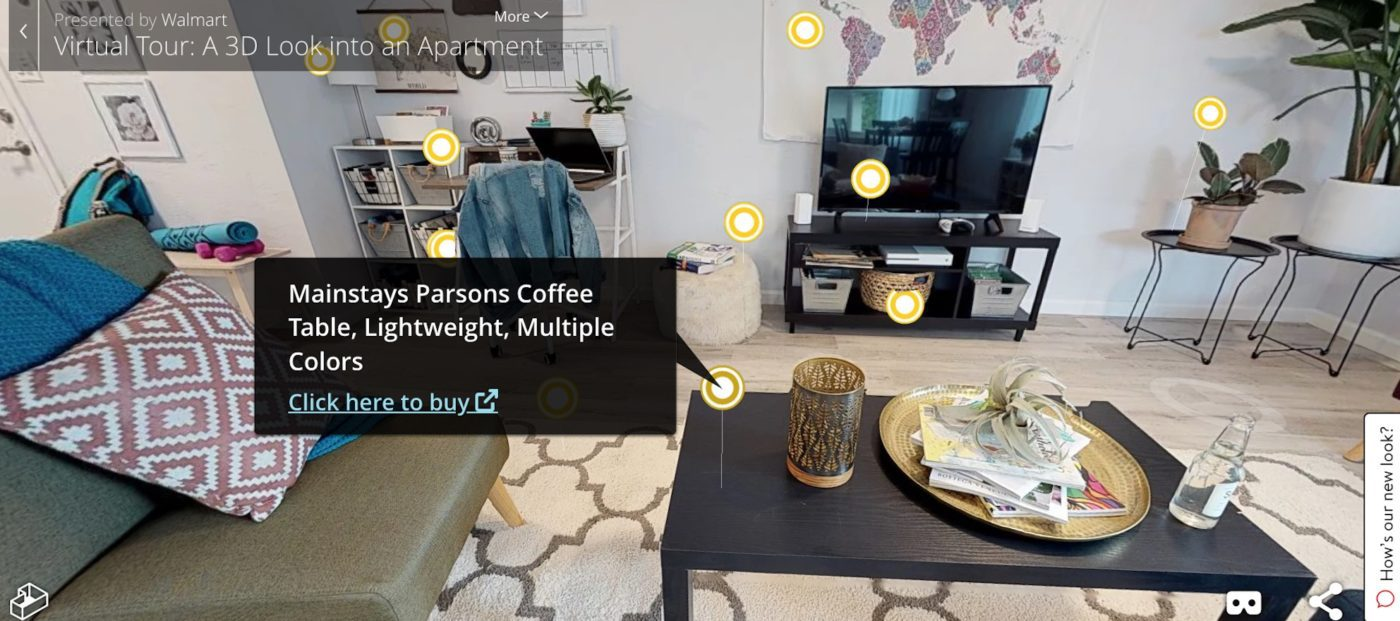 Walmart taps Matterport to power new virtual-shopping experience