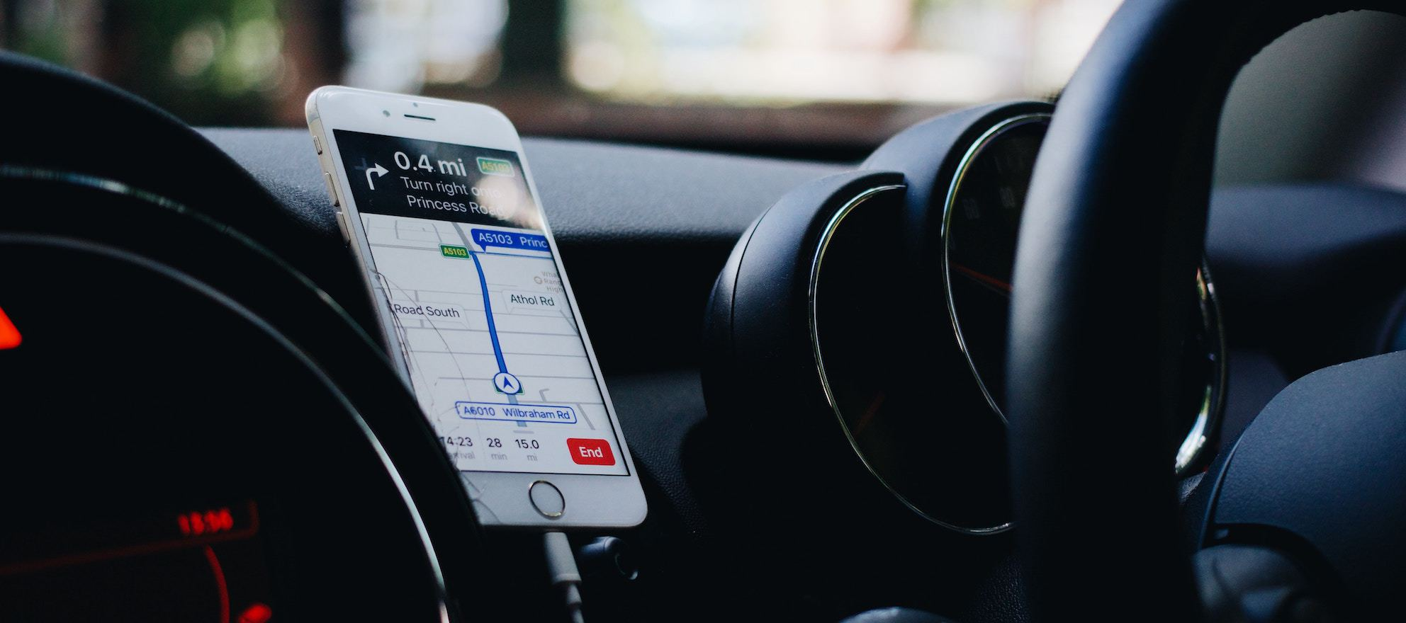 Updated app reads listing information as your car stops in front of a home