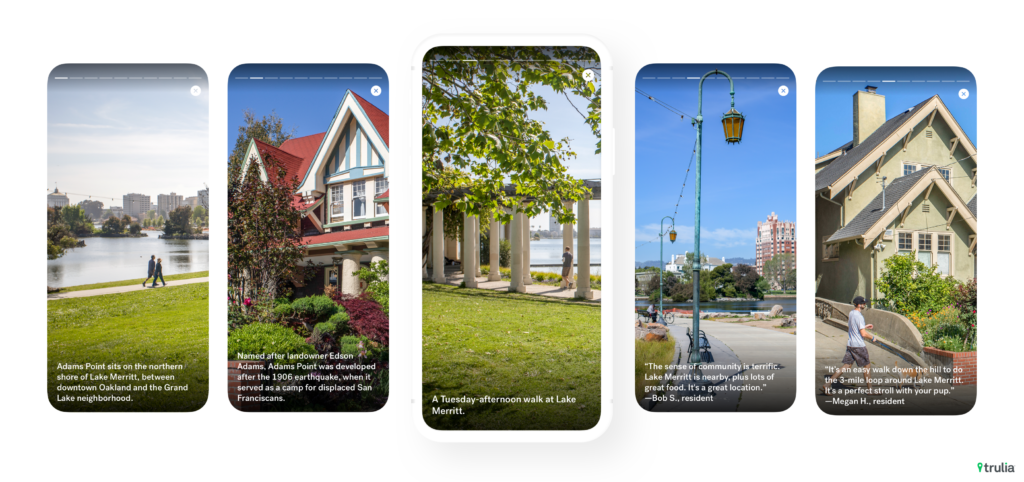 Trulia Neighborhoods launches to make communities look like Instagram Stories
