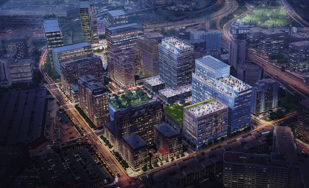 Rendering of National Landing in Northern, VA for Amazon HQ2