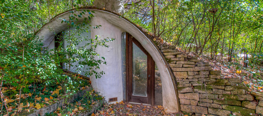 Hide out from the world in this real-life hobbit house