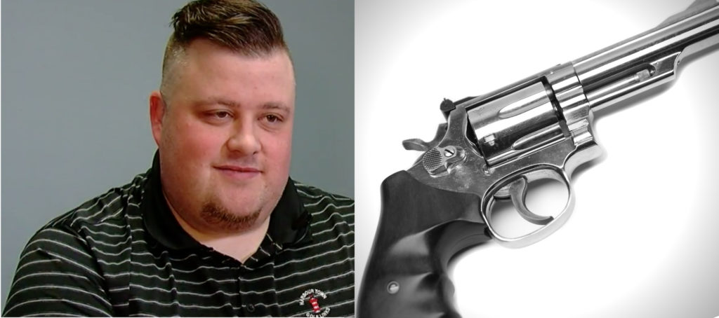Agents with concealed carry permits restrain armed intruder