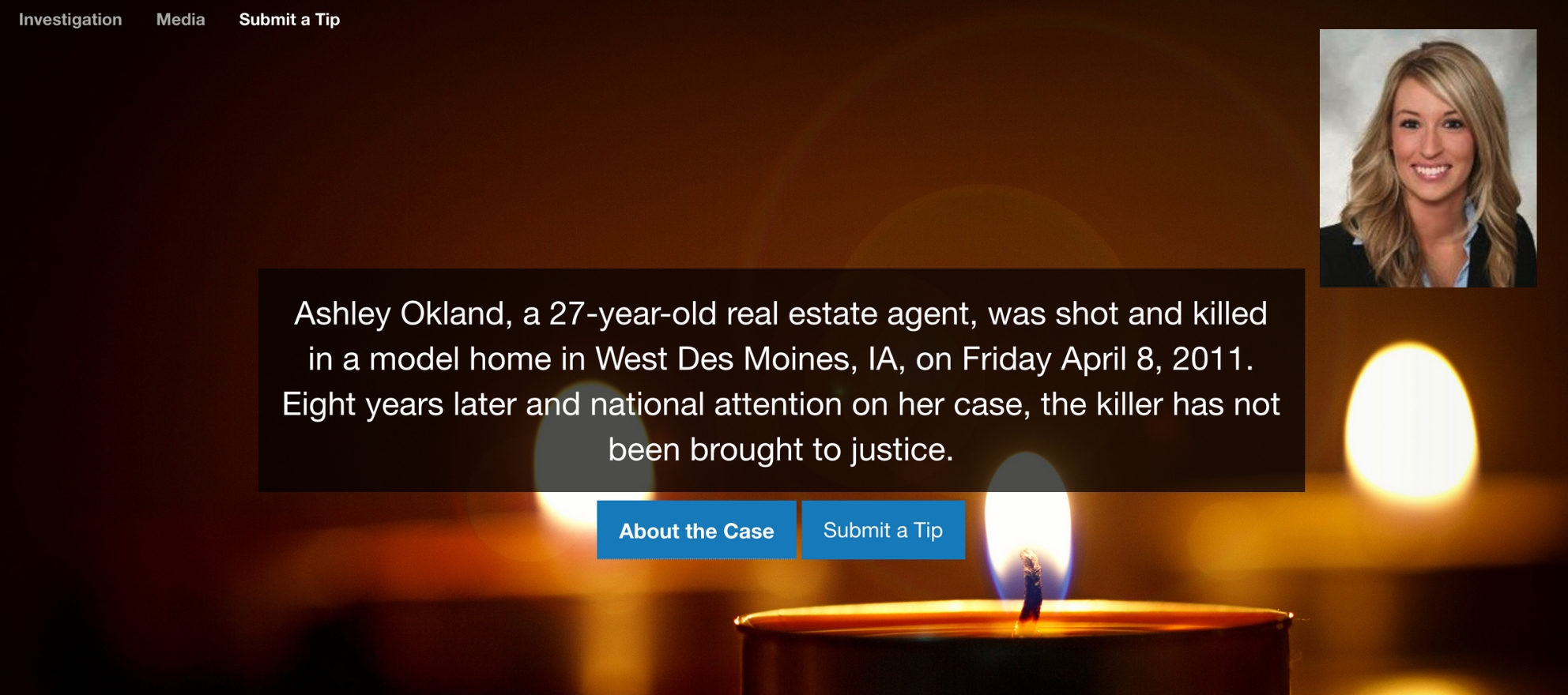 Police launch website asking for tips on Realtor's unsolved murder