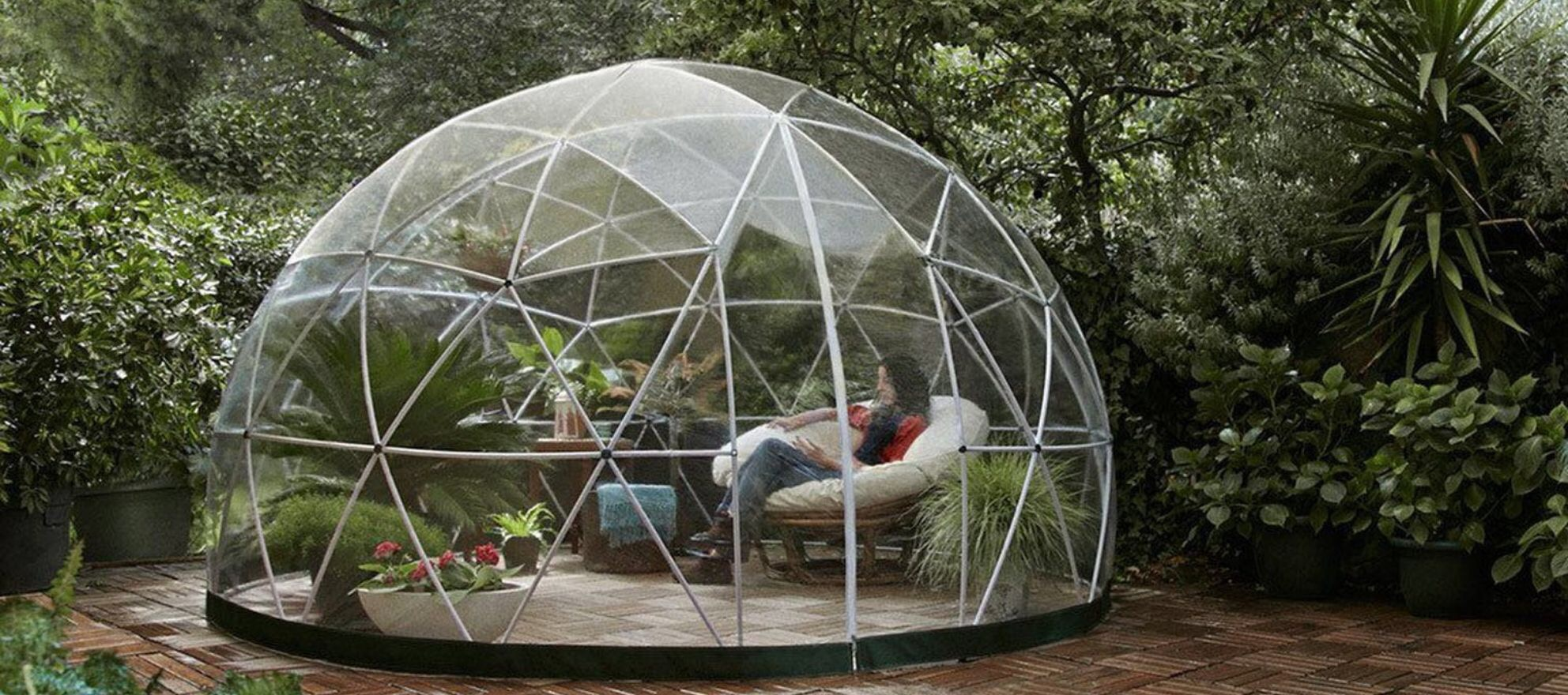 Amazon is selling a transparent dome igloo