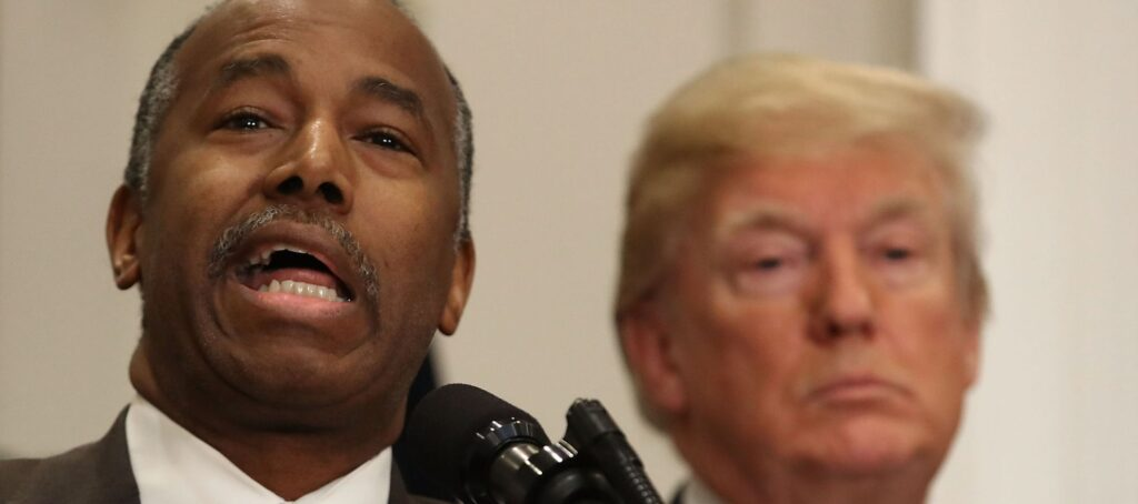 Trump creates affordable housing council, taps Ben Carson as chair