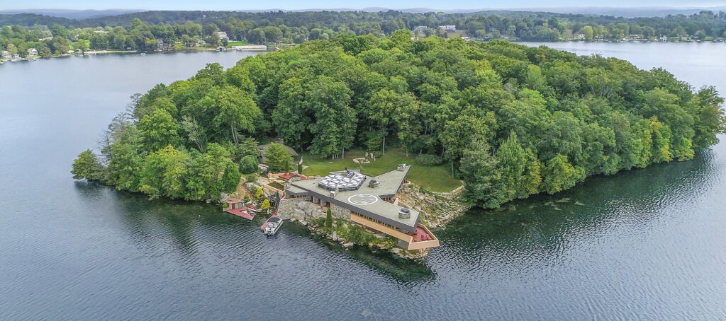 An island with 2 Frank Lloyd Wright homes is up for sale