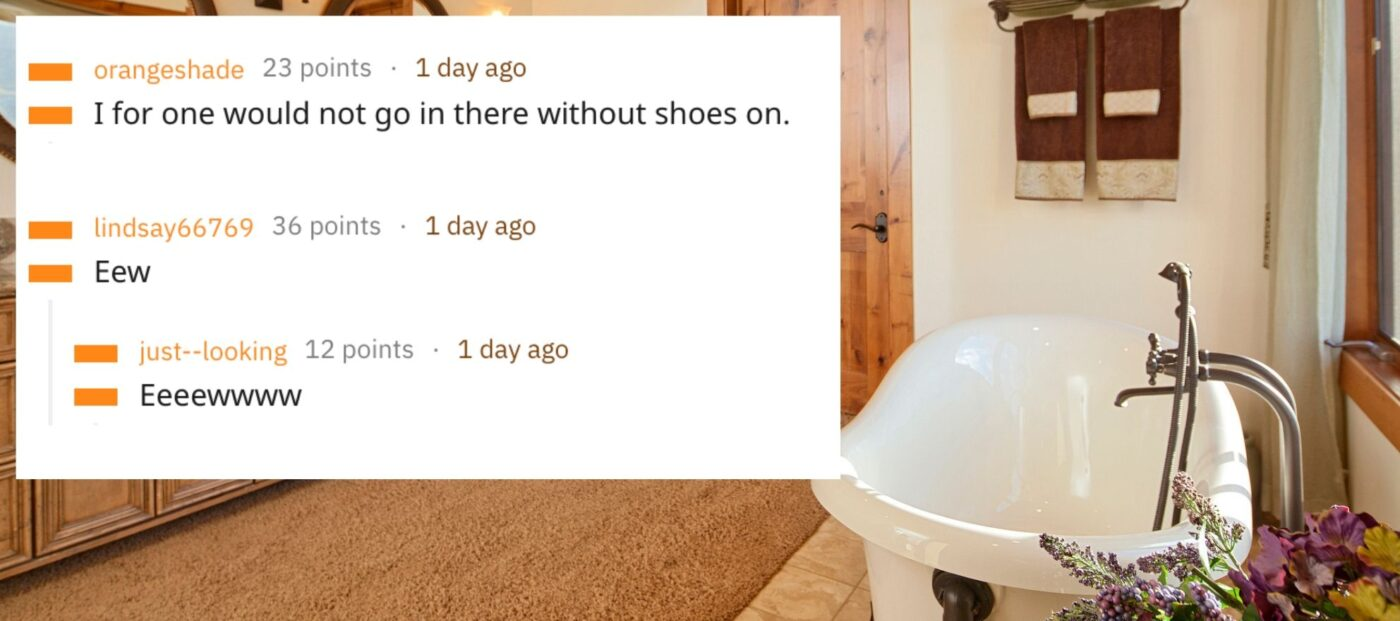 A carpeted bathroom? Woman's shocked Reddit post goes viral