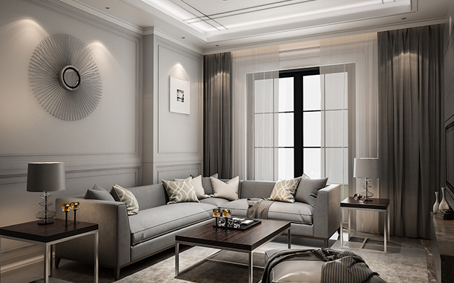 well appointed living room