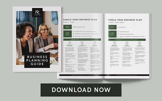 Business plan image with download button