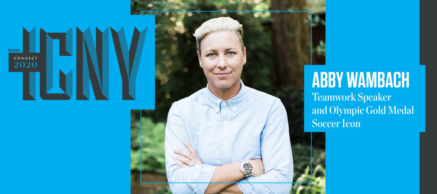 Soccer icon Abby Wambach will take the stage at Inman Connect New York