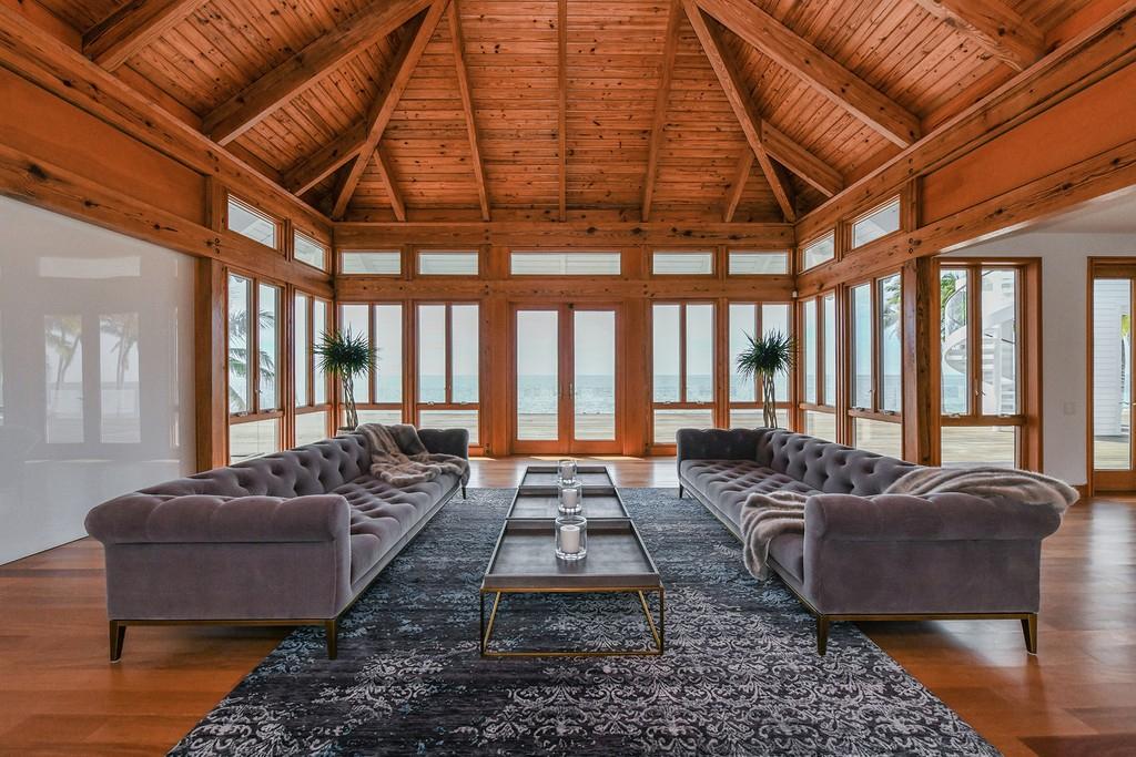Luxury home sitting room interior
