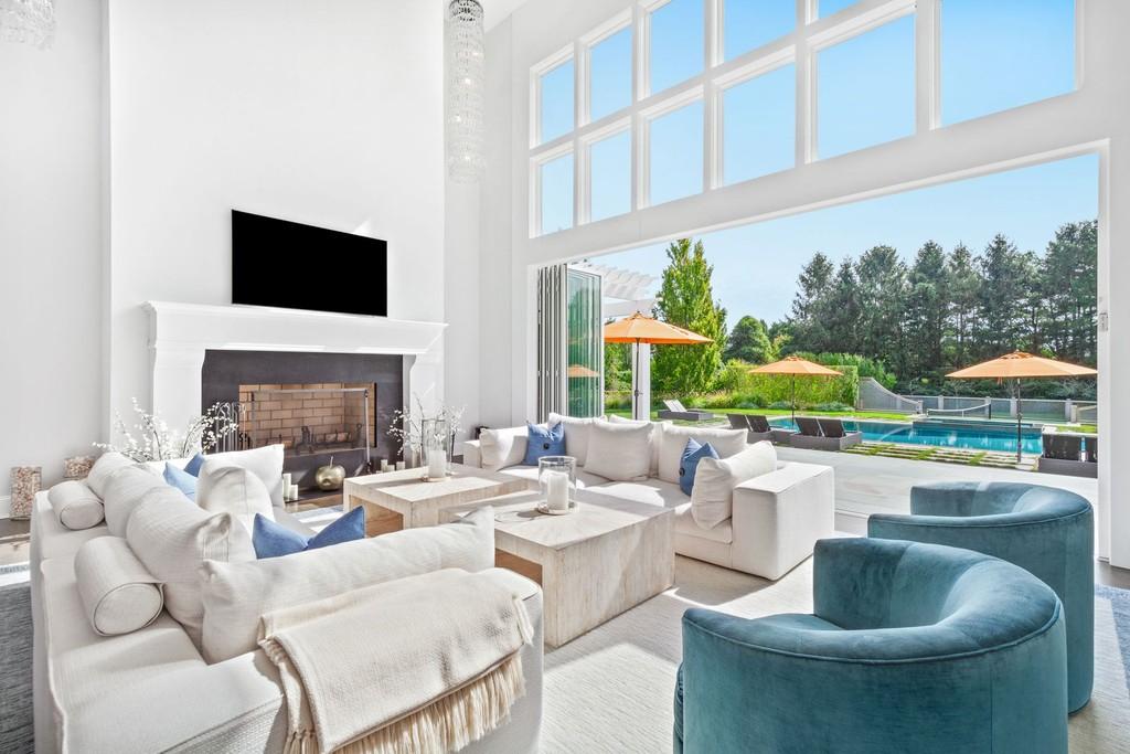 Interior da sala de estar de luxo