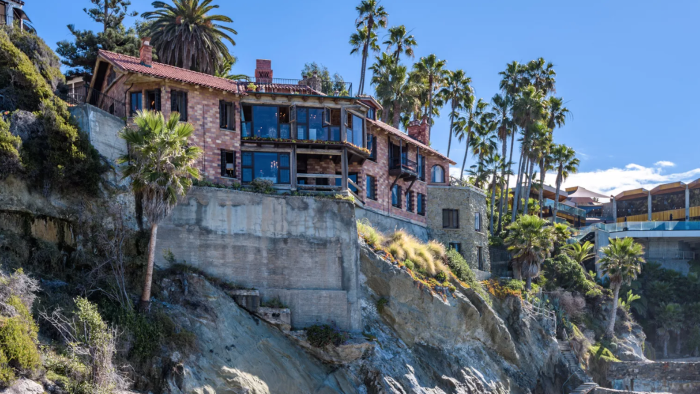 Cliff-hanging Laguna Beach villa hits market for $27M