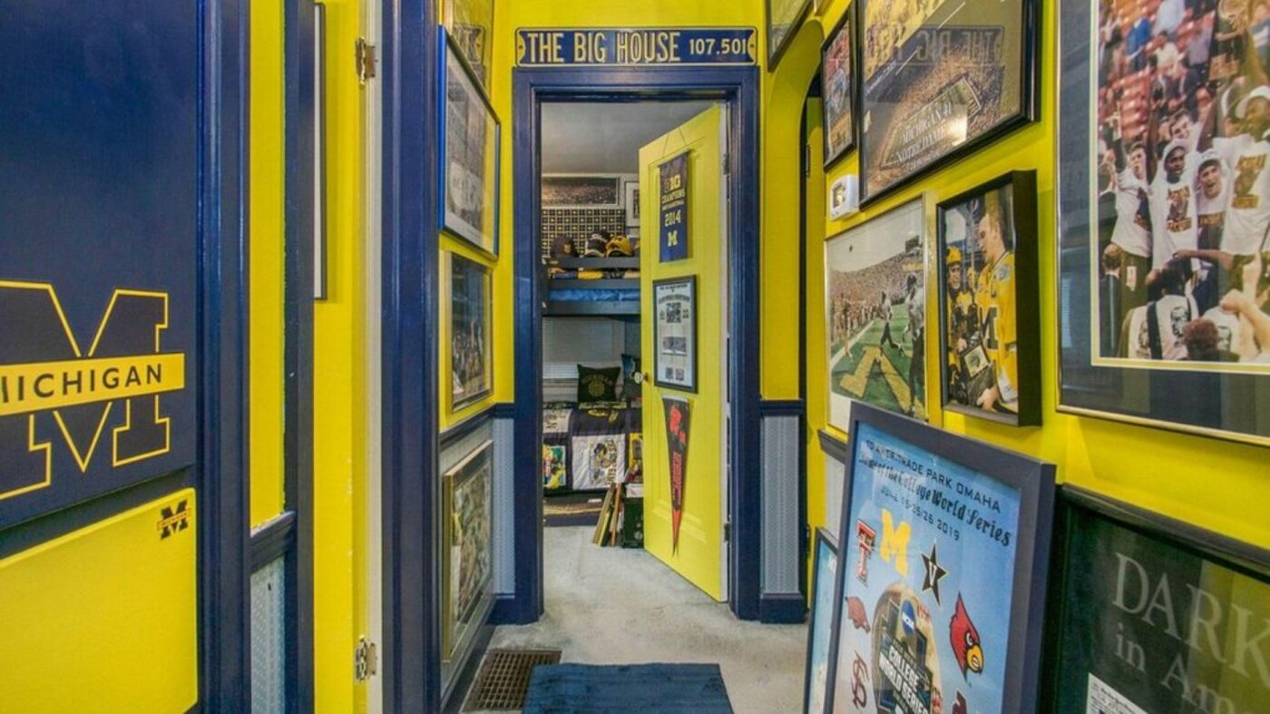 University of Michigan superfan's home hits the market