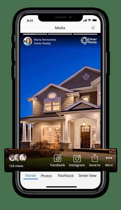 Smartphone showing homesnap app