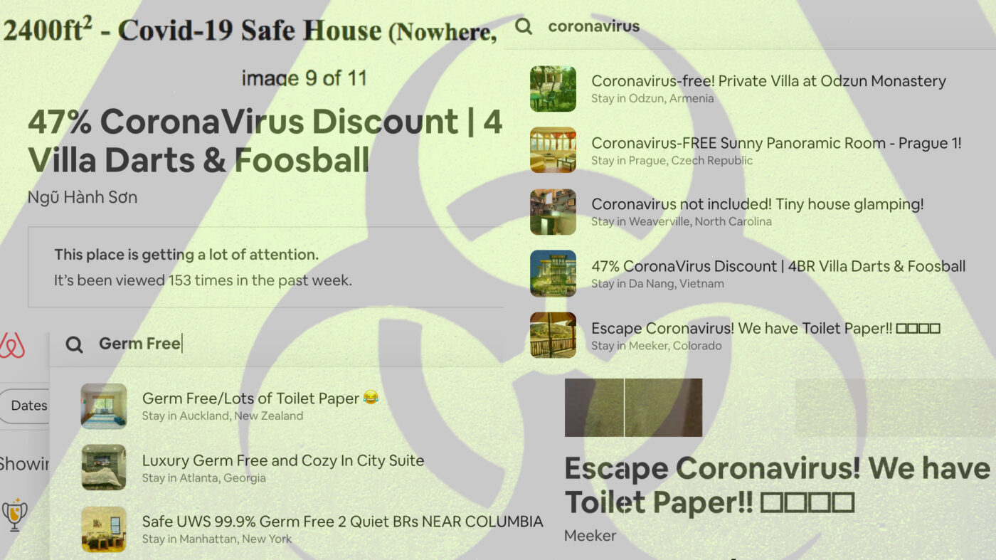 Coronavirus safe house listings pop up on Craigslist, Airbnb