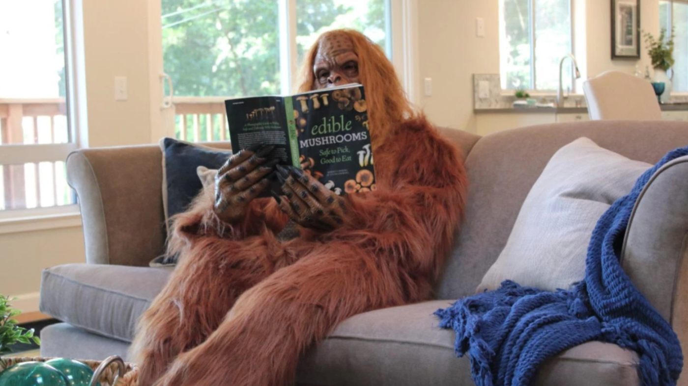 (Agent dressed as) Bigfoot spotted in California listing photos