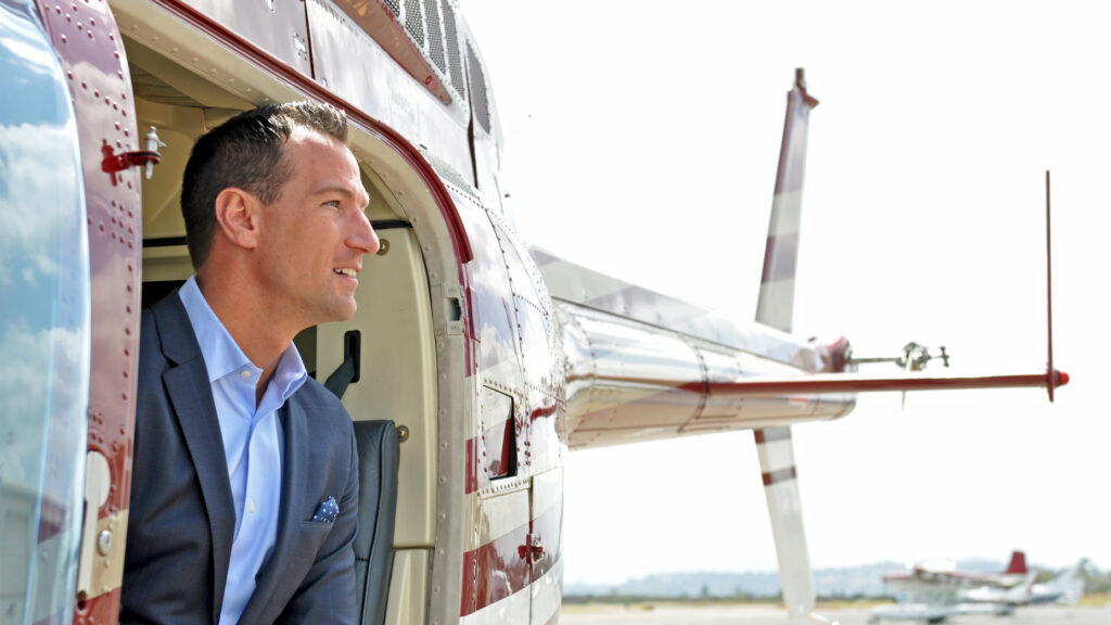 Real estate at 10,000 feet? For luxury agents, helicopters allow work to continue