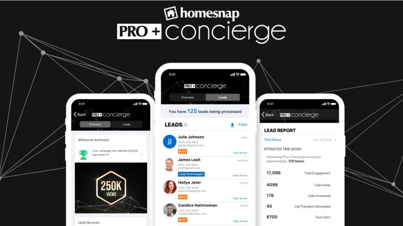 Homesnap launches new advertising and lead gen service, Concierge