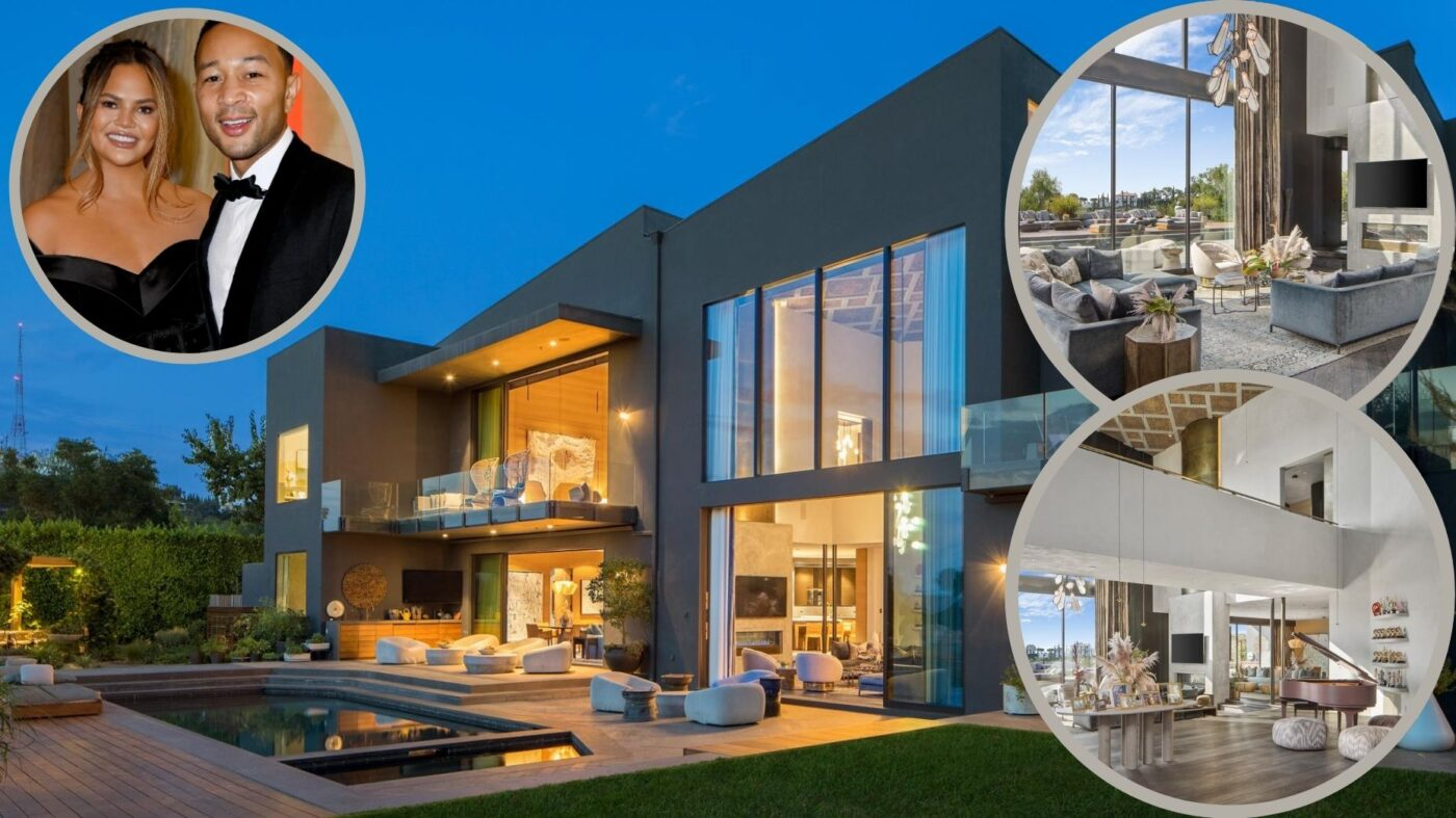 John Legend and Chrissy Teigen list Beverly Hills home for $23.95M