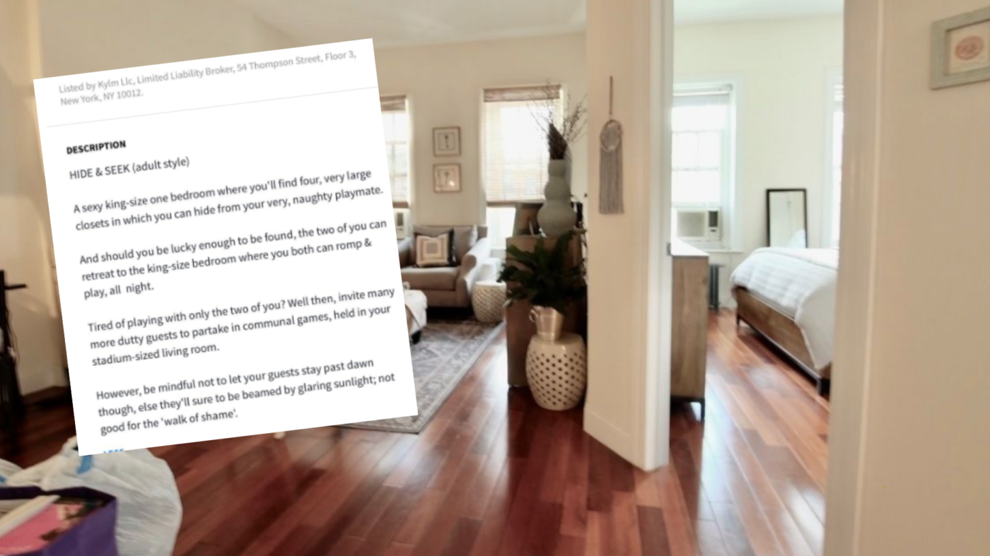 Apartment with kinky listing description blows up online