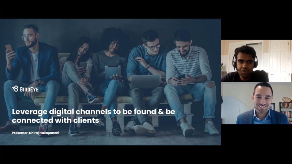Leverage digital channels to be found & be connected with clients
