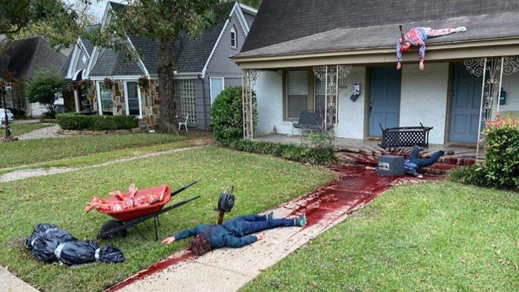 A Halloween display was so realistic police were called — multiple times