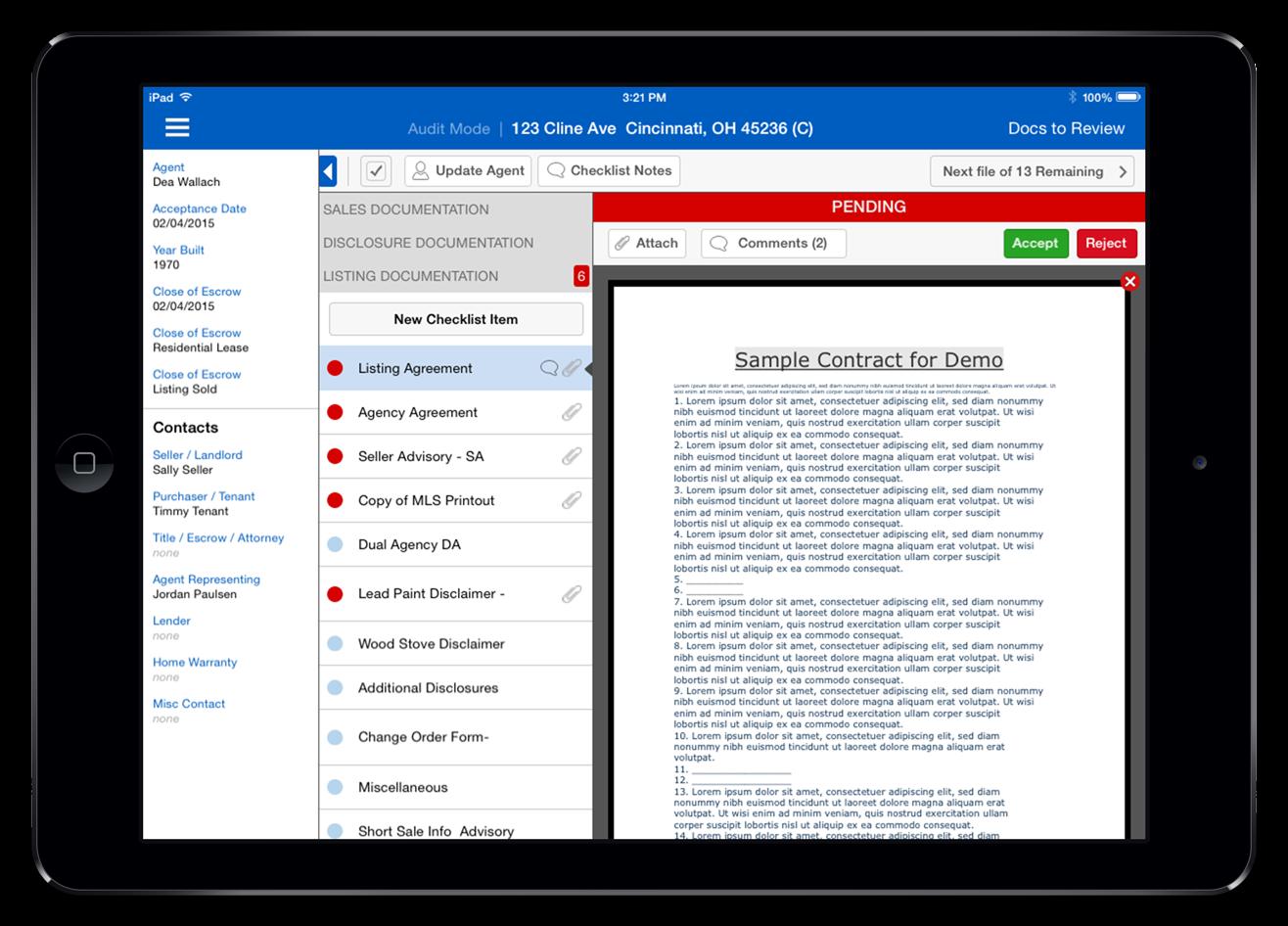 SkySlope Quick Audit Dashboard