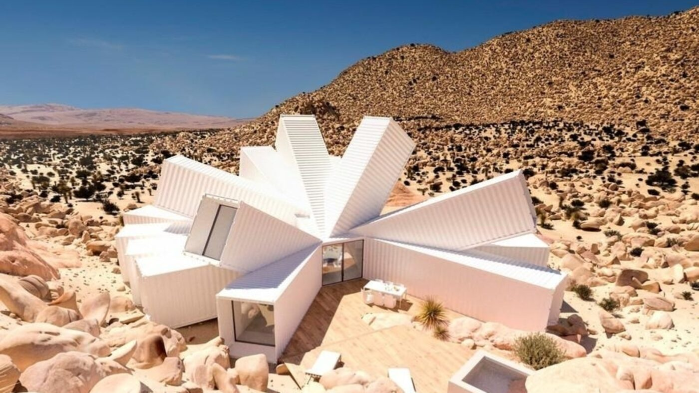This container house in the middle of the desert can be yours for $3.5M
