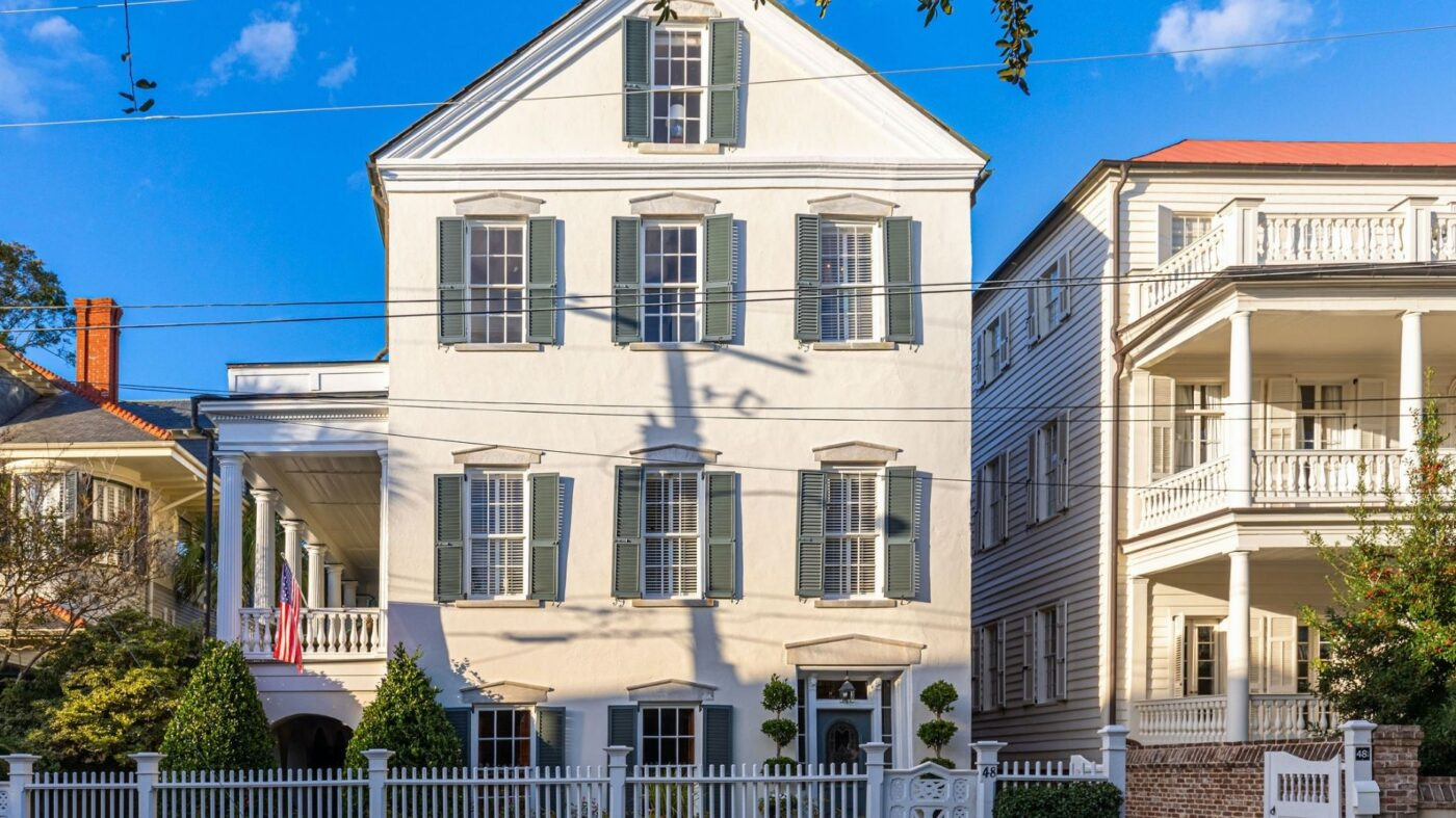 Historic Charleston Greek Revival once occupied by JFK lists for $4.4M