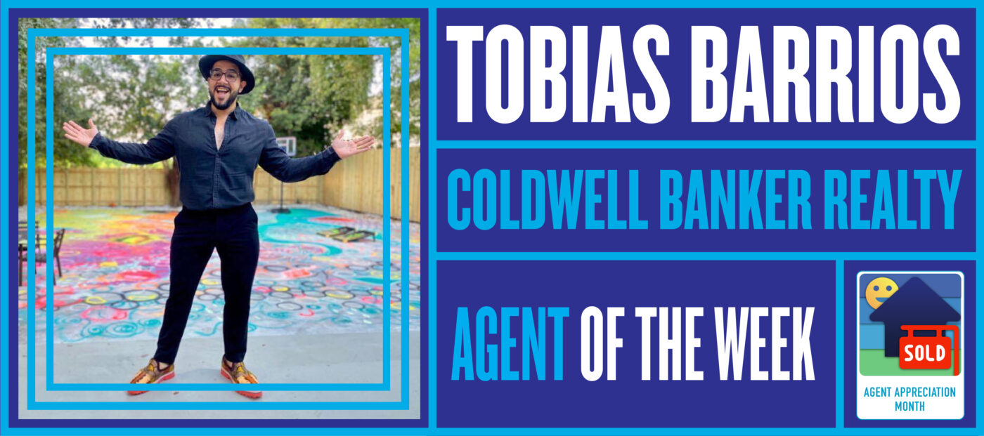 Tobias Barrios is bringing art and real estate together to draw out the energy and love in his listings
