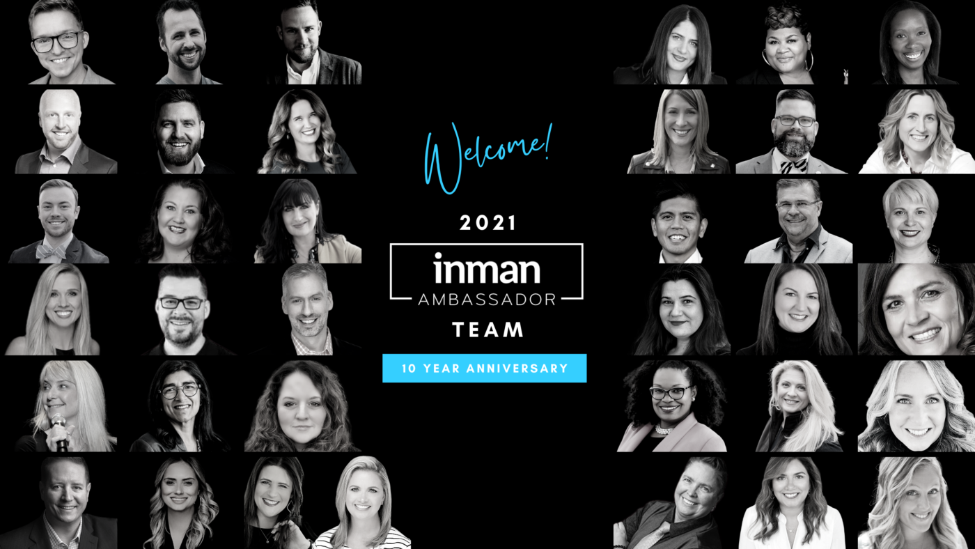 Inman announces the Inman Brand Ambassadors of 2021