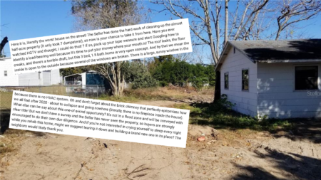 'Worst house on the street': Brutally honest Florida listing goes viral