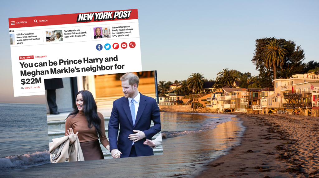 'Be Harry and Meghan's neighbor': Montecito's royal marketing spin