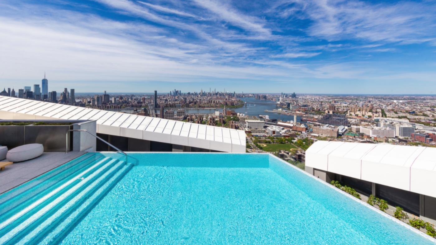 Infinity pool atop Brooklyn skyrise is highest in Western Hemisphere