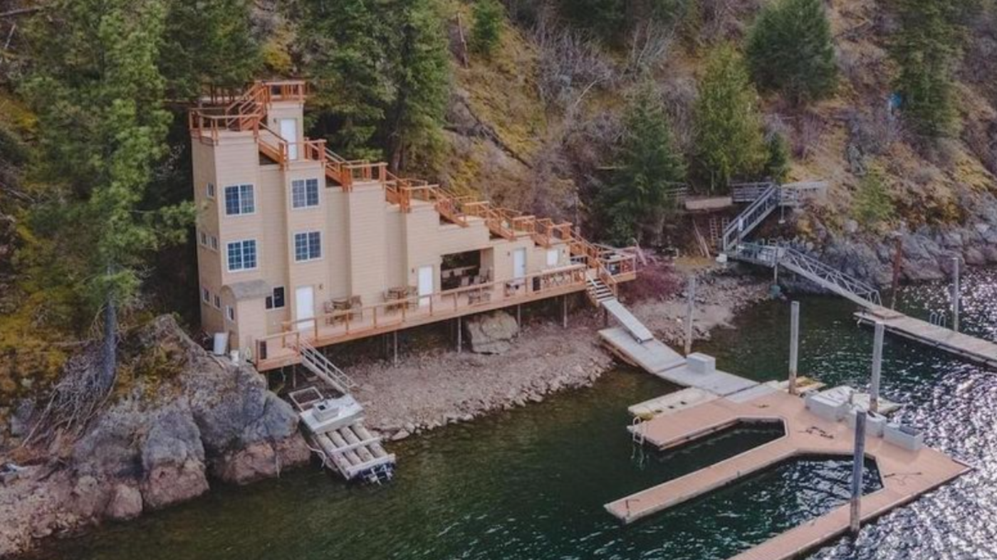 Lakefront 'Stair House' in Idaho's hottest neighborhood asks $695K, but there's a catch