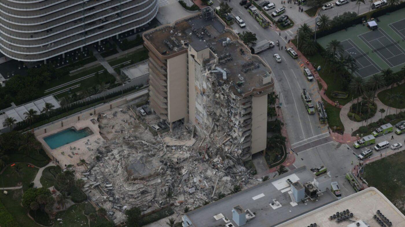 12-story condo building partially collapses near Miami