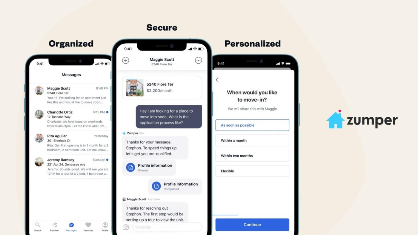 Zumper launches in-app messaging experience